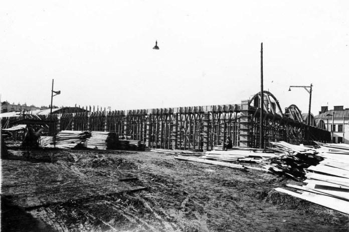 Будівництво профілакторію трамвайного депо № 1 на вулиці Городоцькій. 1928 р.