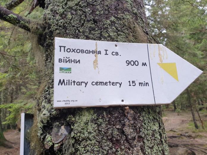 Є навіть чіткий вказівник. 15 хвилин і ми коло цвинтаря