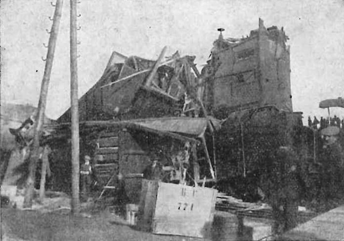 Наслідки зіткнення поїздів на станції Медика. 1911 р.