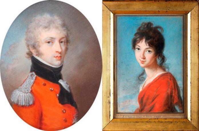 Генрик Людвиг Любомирський і його майбутня дружина в 15-річному віці Тереза Чарторийська
