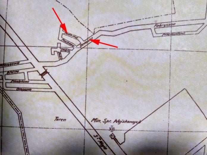 Вулиці Підкова і Подольська на плані 1938 року