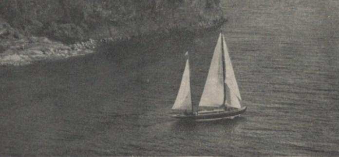 Яхта біля берегів Швеції, 1937 р.