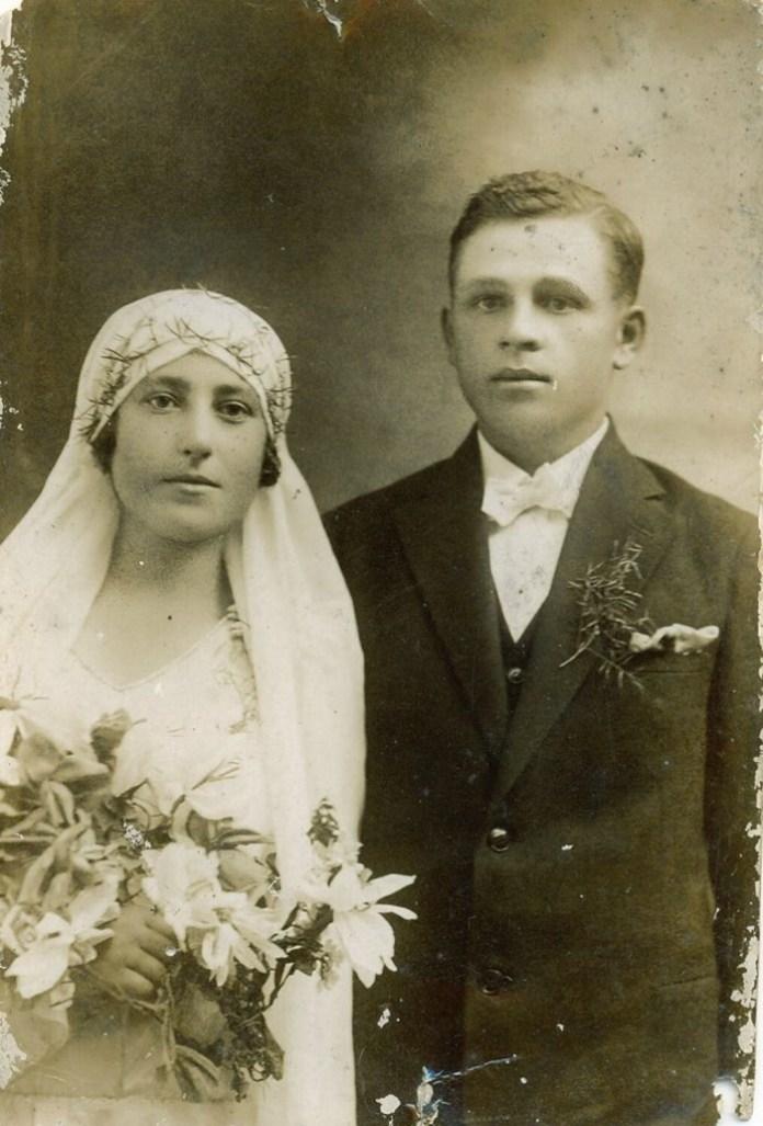Молоде подружжя Ольга і Василь Либаки, 1930 рік