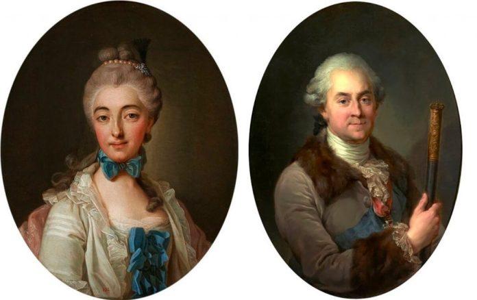 Ізабелла Любомирська (з Чарторийських) і її чоловік маршалок коронний князь Станіслав Любомирський