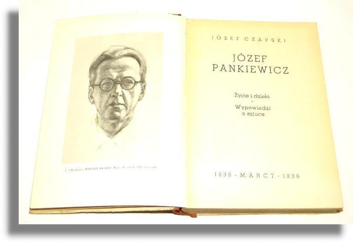 Книга Юзефа Чапського «Józef Pankiewicz»