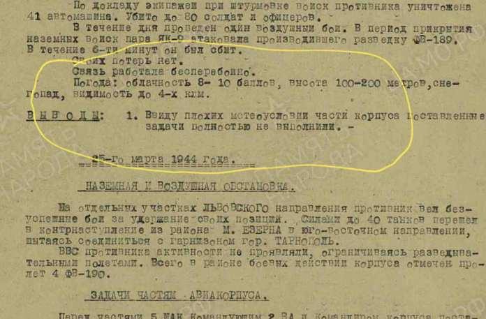 Архівні дані за 24-26 березня 1944 року
