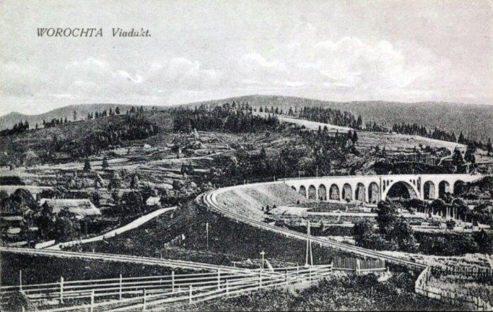 Віадук у Ворохті. Поштова листівка початку ХХ ст.