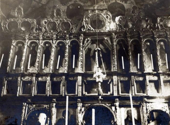 Іконостас в храмі, с. Бунів, 1905 р.