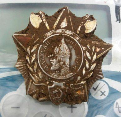 Орден Олександра Невського, знайдений на місці падіння