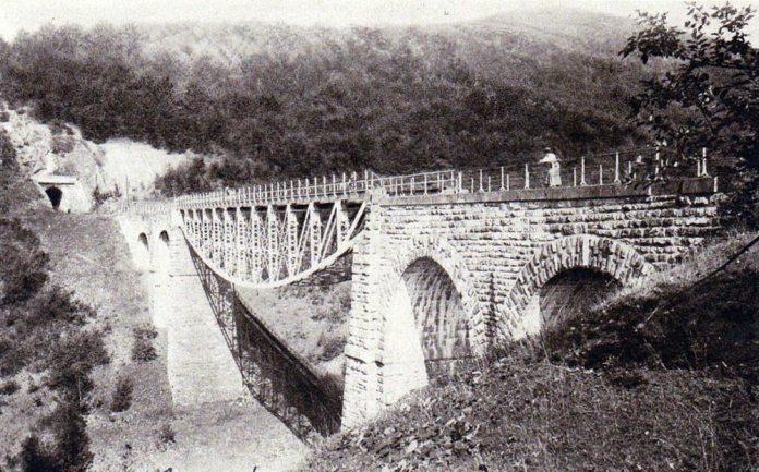 Віадук і вхід у Бескидський тунель. 1887 р.