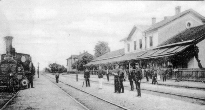 Залізнична станція Чоп. Фото 1910 року