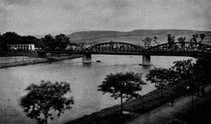 Залізничний міст в Ужгороді. Поштова листівка 1900-х років