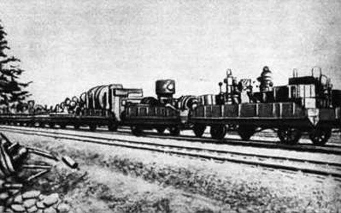 Евакуація обладнання по залізниці. 1941 р.