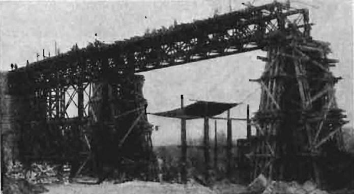 Відновлення моста-віадуку біля Плугова, 1920-ті рр..