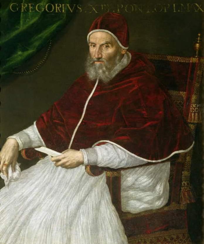 Папа Григорій ХІІІ. Фото з https://uk.wikipedia.org/