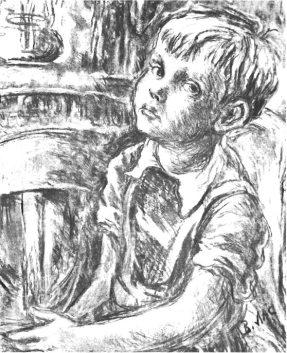 Володимир Ласовський. Портрет сина Лева. Буенос-Айрес, 1951