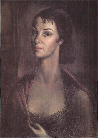 Володимир Ласовський. Дружина Мирослава. Нью-Йорк, 1960