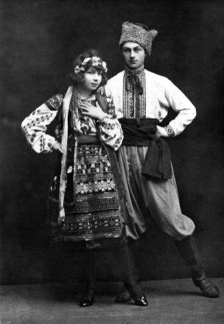 Ярослав Середа на сцені, Прага, 1923 рік