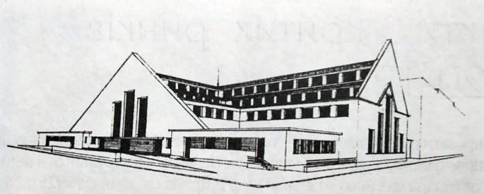 Проект критого ринку на пл. Зерновій. Арх. Т. Пісєвич, 1920-ті рр.