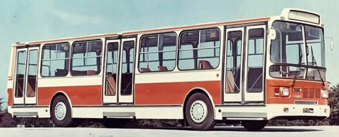 Прототип автобуса 11.630 «Мир», який планувалося виготовляти спільно в СРСР та Угорщині. 1974 р. Фото із архіву НДІ «Укравтобуспром»