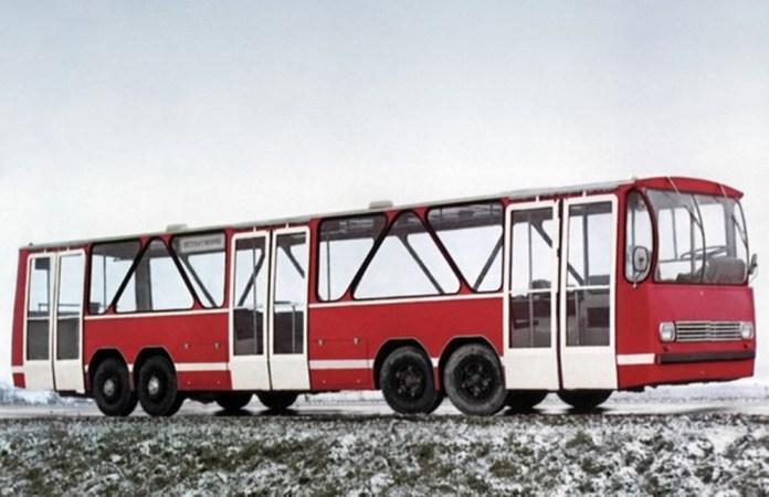Експериментальний низькопідлоговий гібридний автобус ЛАЗ-360ЭМ