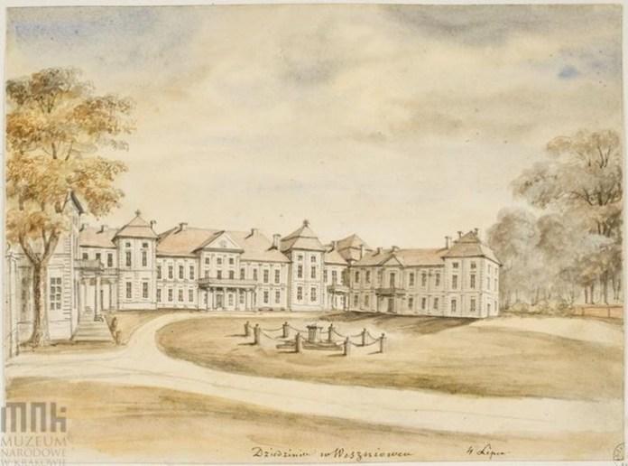 Палац у Вишнівці, вид з двору
