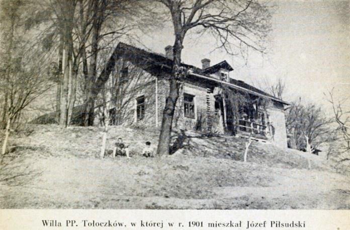 Вілла Толочків у Брюховичах, де проживав у 1901 році Юзеф Пілсудський