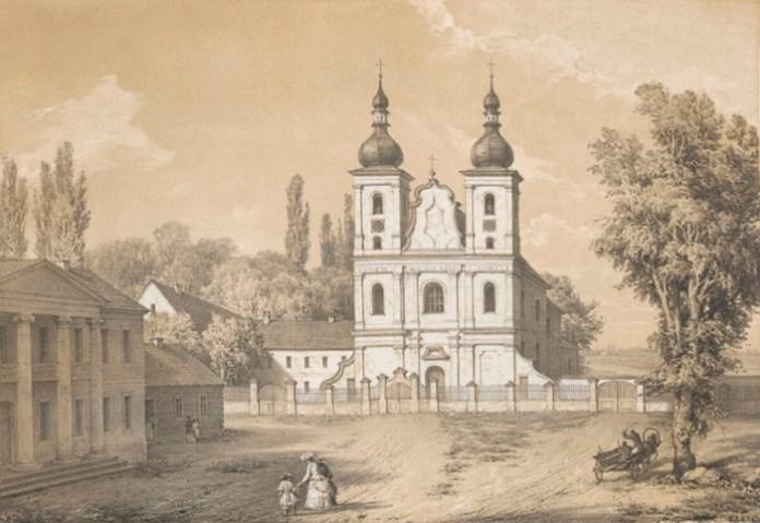 Дубровиця. костел піярів. малюнок датовано 1875 роком