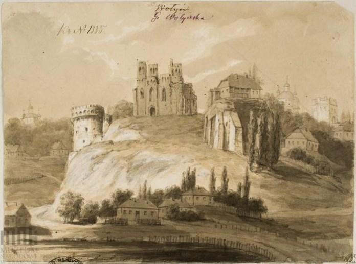 Острог, Замкова гора і зруйнований Богоявленський собор