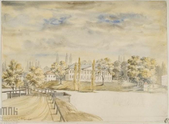 Унікальний малюнок Млинівського палацового комплексу