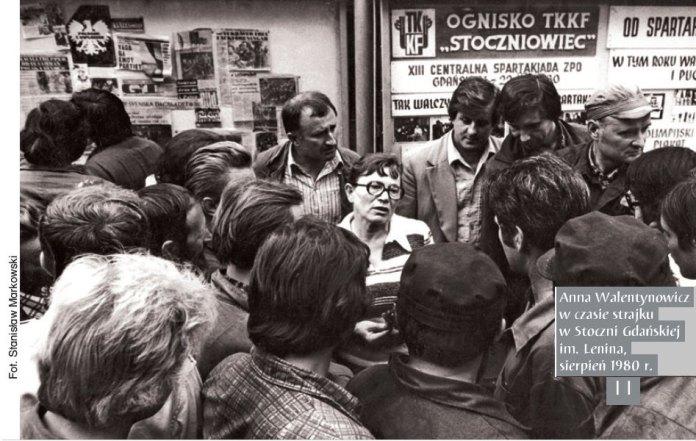 Анна Валентинович під час страйку на корабельні в Гданську, серпень 1980-го