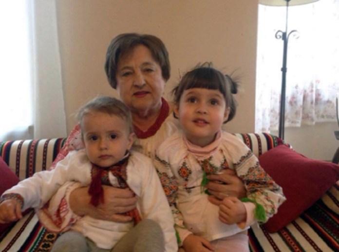 Марія Гель із онуками