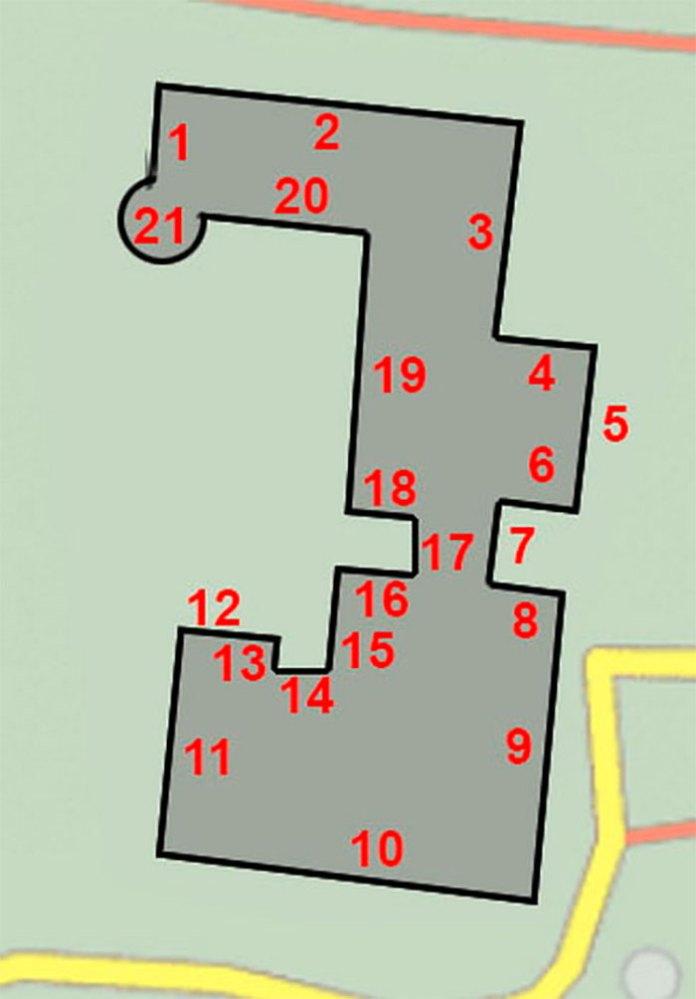 Схематичний план будівлі