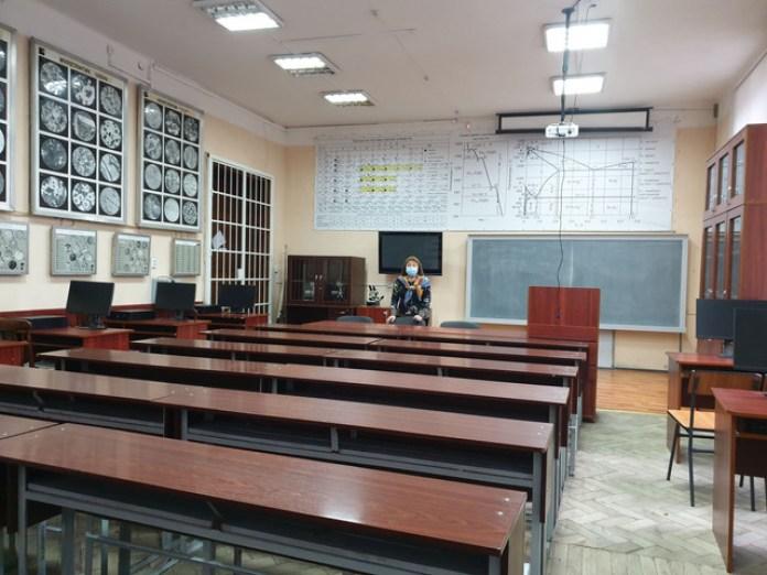 Навчальне приміщення в підземеллі Львівської Політехніки