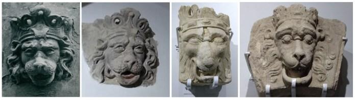 Маскарон на фото Яна Булгака і маскарони збережені в історичному музеї