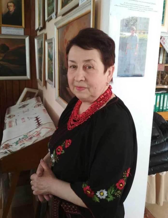 Марія Ганич у музеї імені Уляни Кравченко
