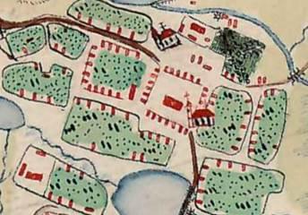 Бурштина на мапі Фон Міга (1779-1782рр.)