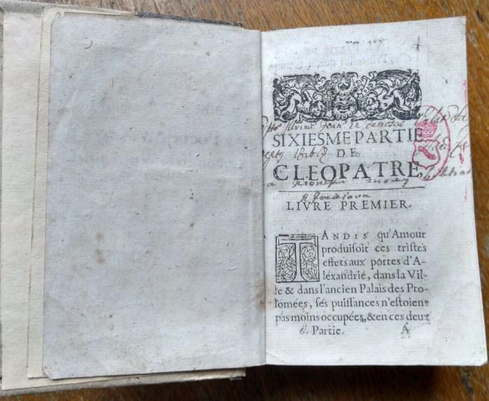 """""""Клеопатра"""". Вочевидь, також з бібліотеки Розалії Поцей, оскільки її підпис стоїть під написаним рукою текстом"""