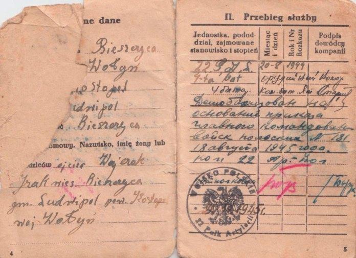 Військовий квиток солдата Війська Польського