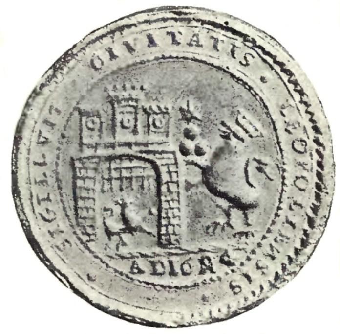 Печатка львівських райців, кін. XVII ст. Фото з https://uk.wikipedia.org/