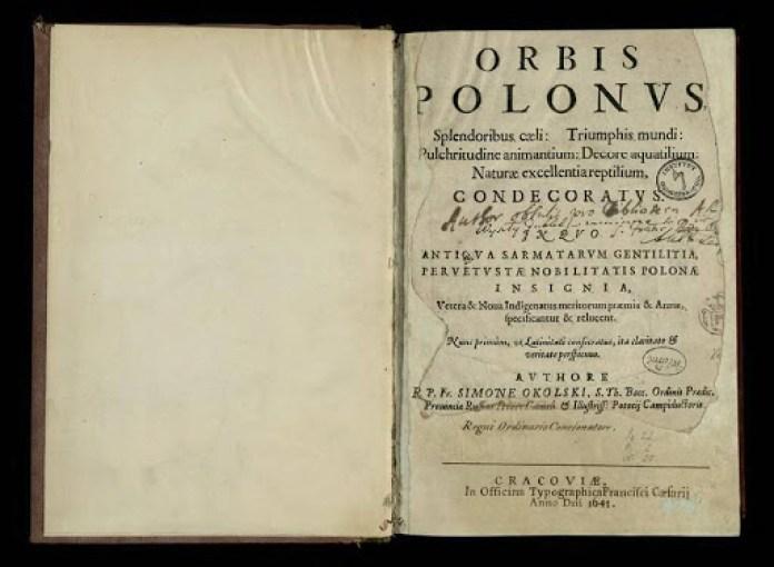 """Orbis Polonus"" Шимона Окольського. Фото з http://gulevich.net/"