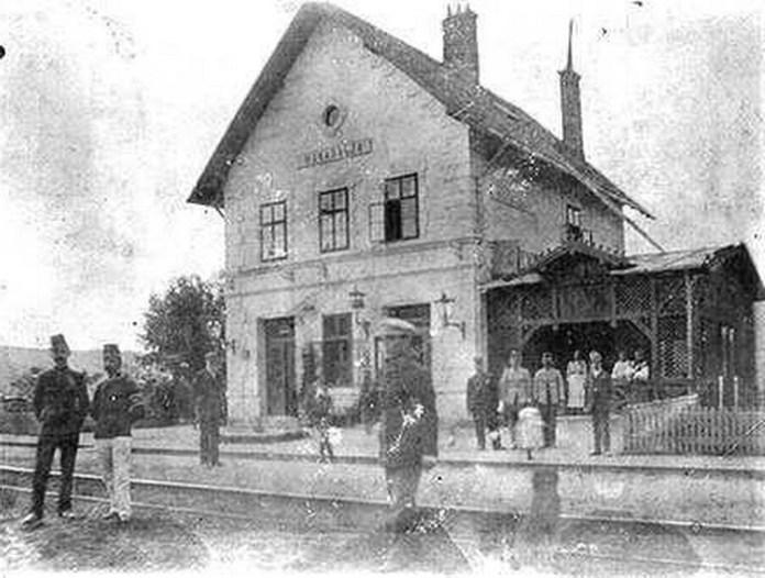 Станція Зімир у австро-угорські часи. Фото надав Ivan Buntushak