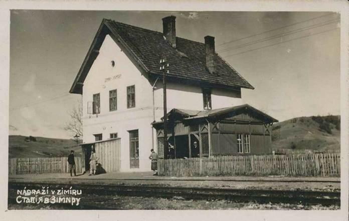 Вид станції у 1935 році. Фото з сайтуuzhgorod.net.ua