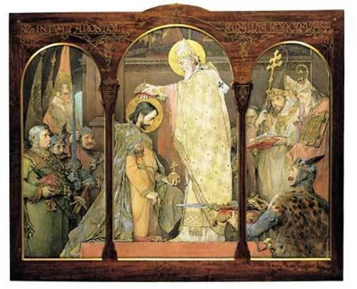 Ігнатій Рошкович. Коронація Святого Стефана