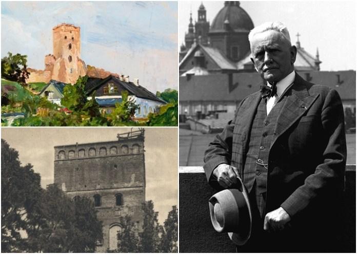 Луцький замок 1937 року на картині львівського художника