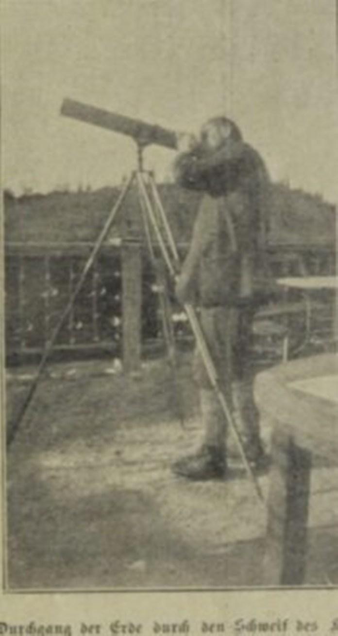 постереження за кометою Галлея у Віденському університеті, Das interessante Blatt, 1910 рік
