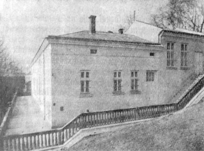 Будівля першого стаціонарного онкологічного відділення Львівського державного загального шпиталю. Фото початку 1930-х років