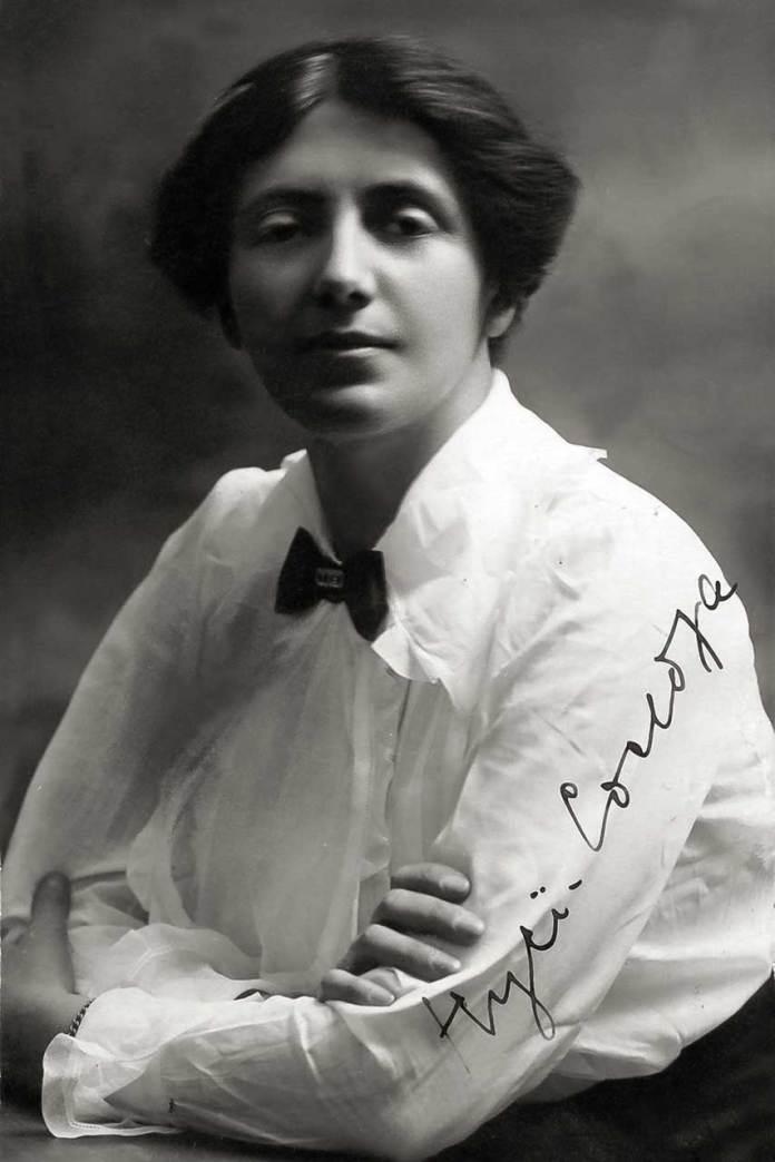 Соломія Крушельницька. Фото з автографом сестрі Анні, 1910-і рр.