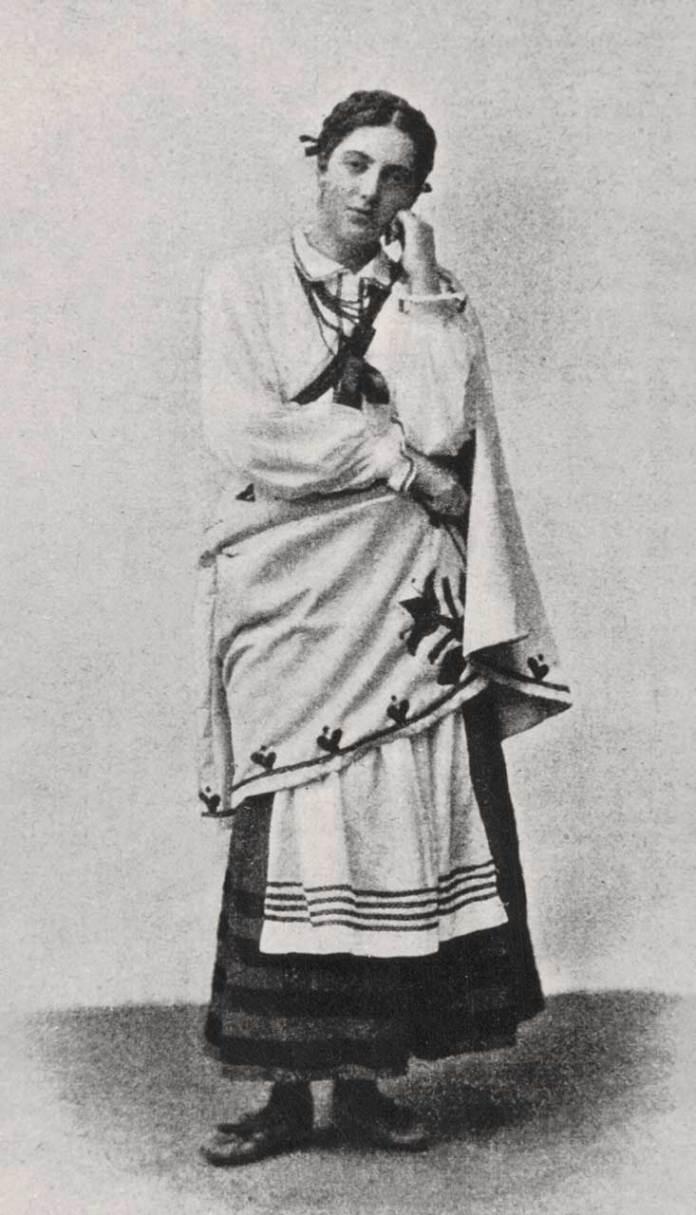 Соломія Крушельницька в образі Гальки. Опера « Галька» Станіслава Монюшка