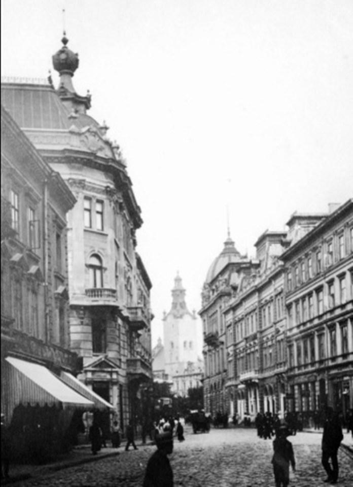 Вулиця Ягеллонська (сучасна Гнатюка). Фото початку XX ст.